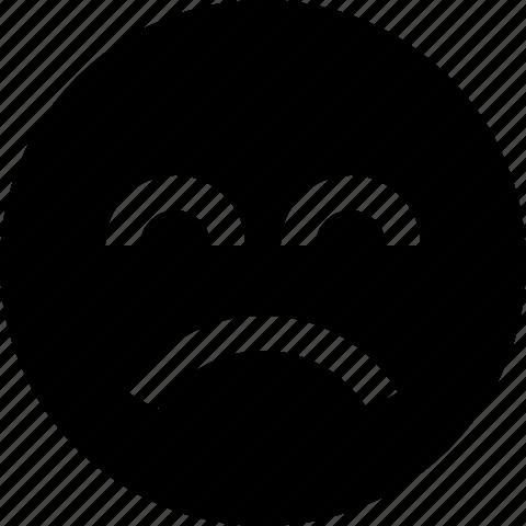 bad, emoticon, face, frown, sad, smiley icon