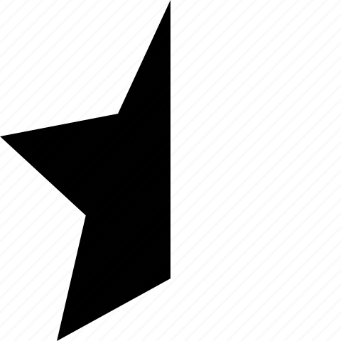 favorite, half, rate, star icon
