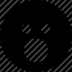 emoticon, face, smiley, surprise, surprised icon