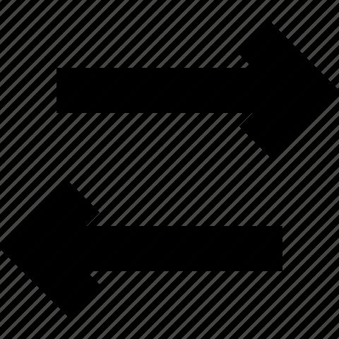 arrows, swap, switch icon