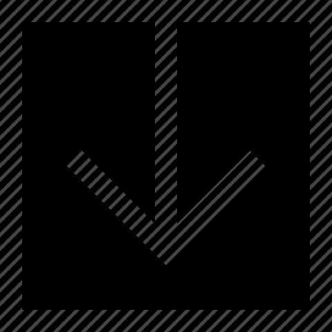 arrow, down, swipe icon