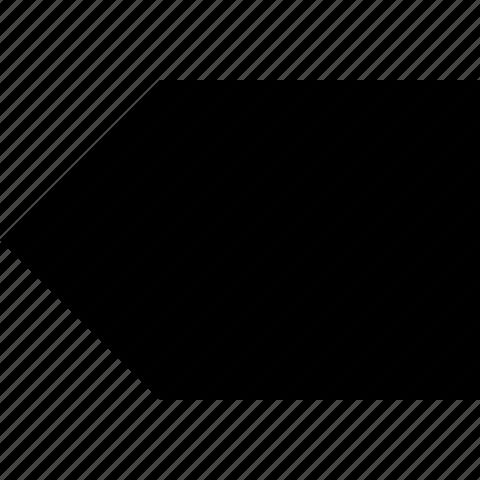 arrow, left, tab icon