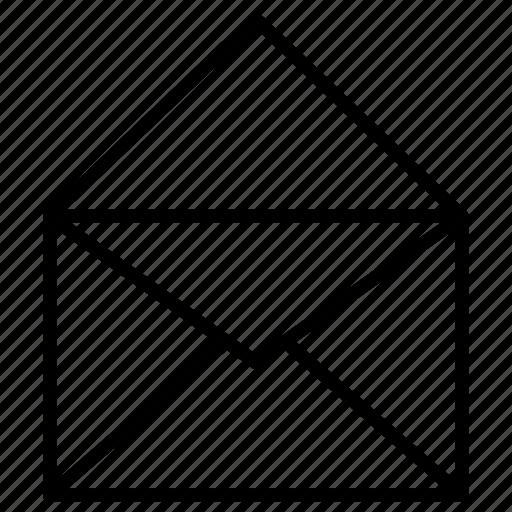 empty, envelope, open, paper icon