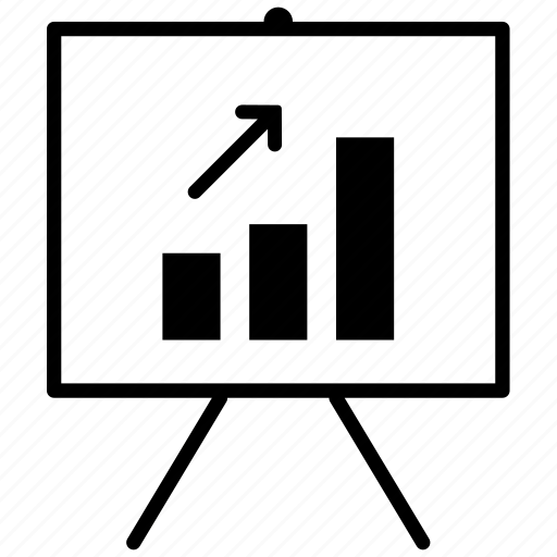 demonstration, graph, presentation, proposal icon