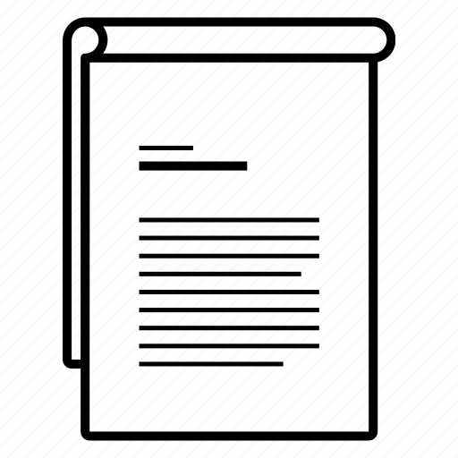 document, flip, fold, paper, turn icon