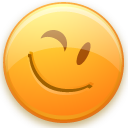 smiley, wink icon