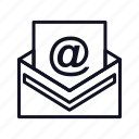 email, envelope, letter, mail, message, open, open-mail icon