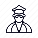 chair, communication, interaction, officer, police, police-officer, work icon