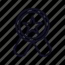 achievement, medal, premium, prize, rating, reward, service icon