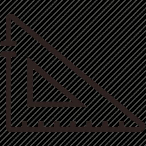 design, geometry, measure, measurement, ruler, scale, tools icon