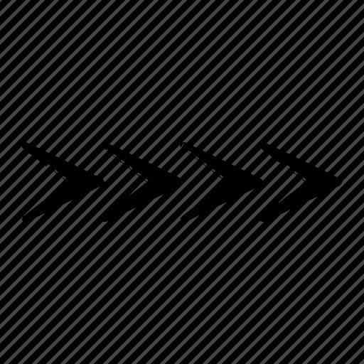 arrow, draw, hand, line, right icon
