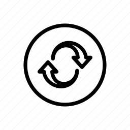 arrow, bold, circle, line, refresh, reset icon
