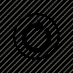 arrow, back, bold, circle, line, refresh, reset icon