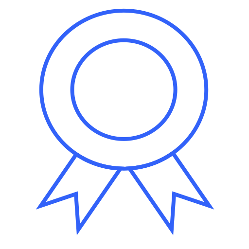 Certificate, award, badge, prize, featured, premium, verified icon - Free download