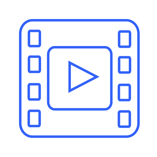 cinema, film, media, movie, multimedia, music, player, stream, video icon