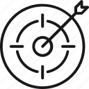 arrow, line, linear, lined, outline, sign, target icon