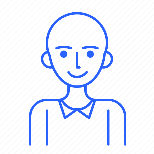avatar, bald, id, man, people, user icon