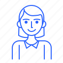 avatar, id, people, user, woman icon