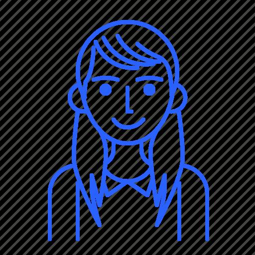 avatar, id, people, user, woman icon