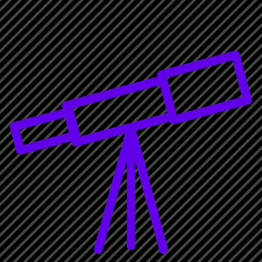 space, star, telescope, view icon