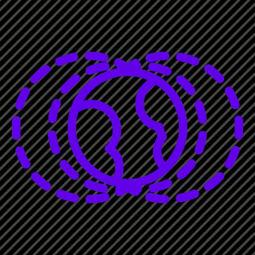 earth, magnetic, shield, space, van allen icon