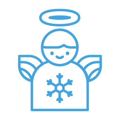 angel, christmas, decor, decoration, snowflake, winter icon