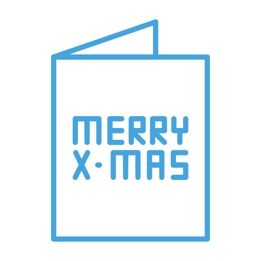 card, christmas, greeting, merry, receive, send icon