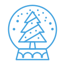 christmas, decor, decoration, snow, snowglobe, tree icon