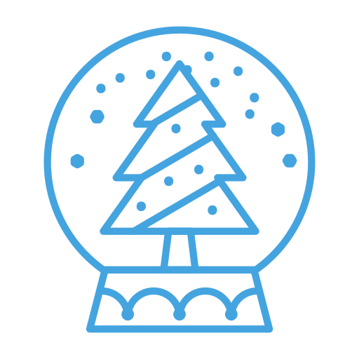 Christmas, decor, decoration, snow, snowglobe, tree icon - Free download