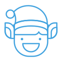 elf, emoji, emoticon, grin, happy, smile icon