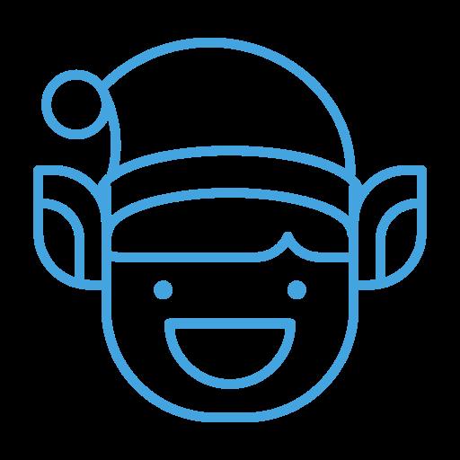 elf, emoji, emoticon, grin, happy, smile icon