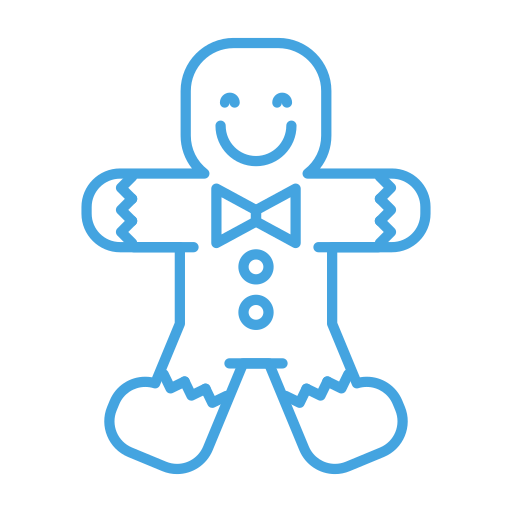 christmas, cookie, gingerbread, man, sweets icon