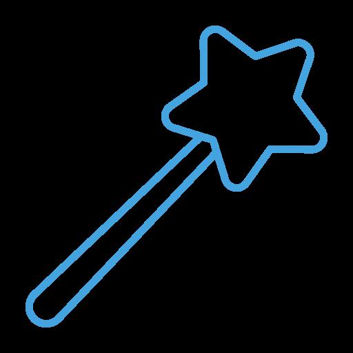 design, magic, magician, tool, wand icon