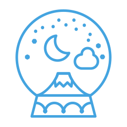 decor, decoration, mountain, snow, snowglobe, winter icon