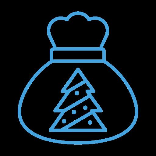 bag, christmas, gift, present, sack, tree icon