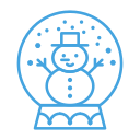 decor, decoration, man, snow, snowglobe, snowman icon