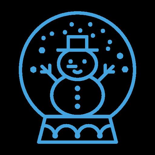 decor, decoration, man, snow, snowglobe, snowman icon