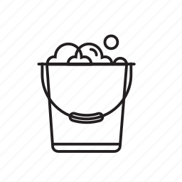 bubble bucket, bucket, soap bucket icon