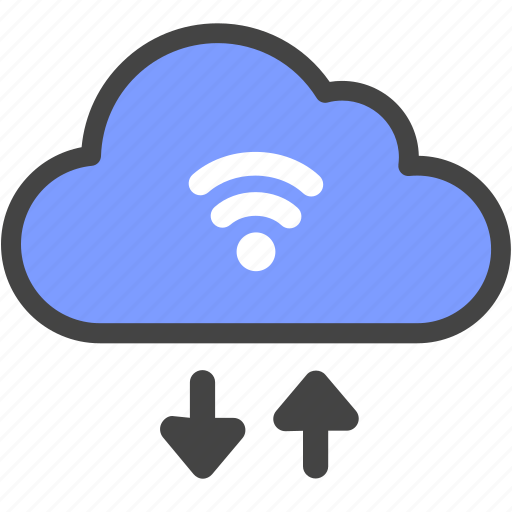 business, cloud, download, inernet, network, upload, wifi icon