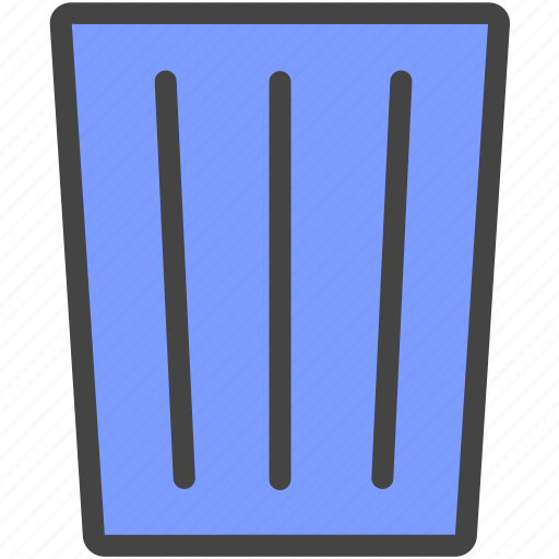 dustbin, garbage can, throw away, trash can, wastebasket icon