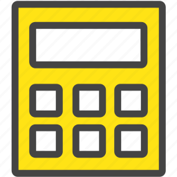 banking, calculation, calculator, financial, math, reckoning, work icon