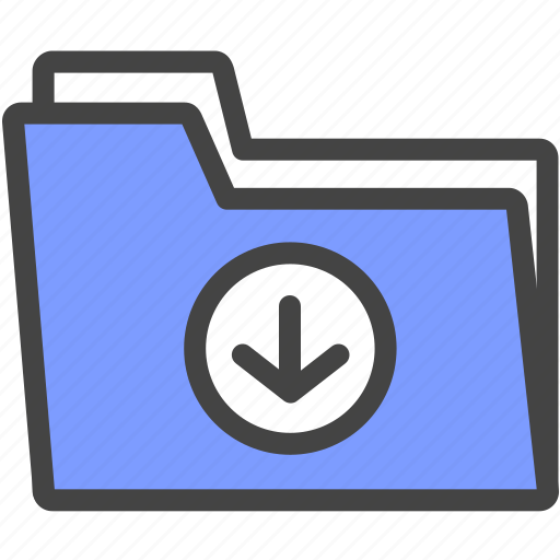 business, download, file, folder, internet, office, work icon