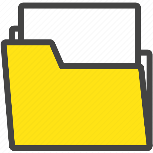 file, folder, internet, message, notice, office, work icon