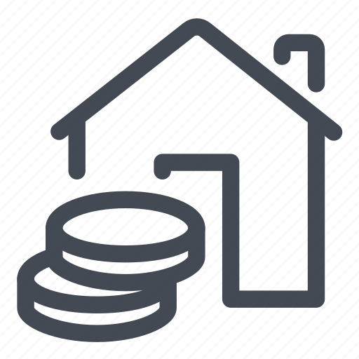 asset, coins, house, money icon