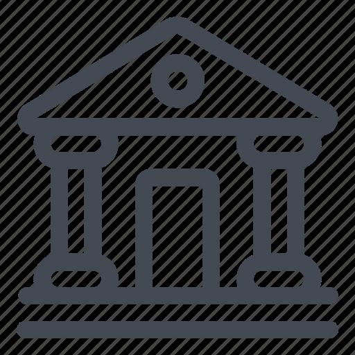 bank, institution, money icon