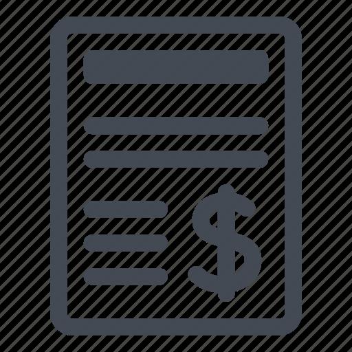 amount, bill, details, dollar, money, pay icon