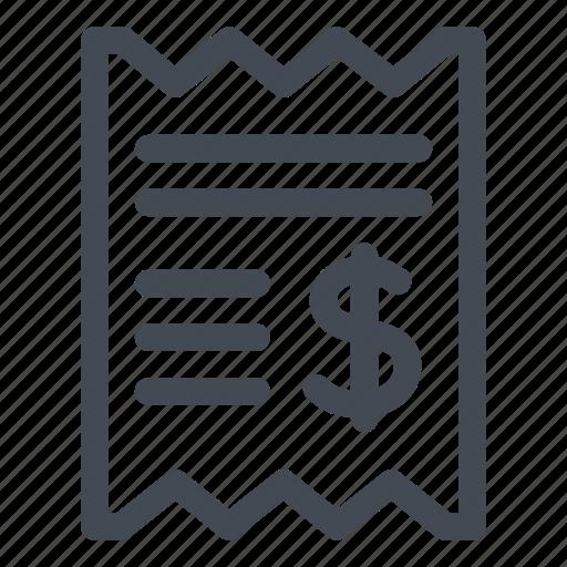 bill, card, credit, dollar, paid, receipt icon