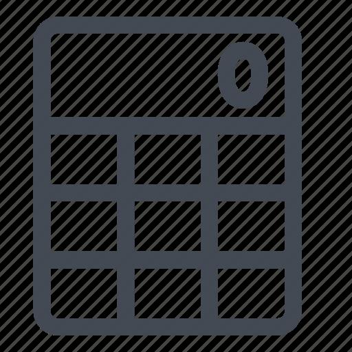 business, calculate, calculator, device, operations icon