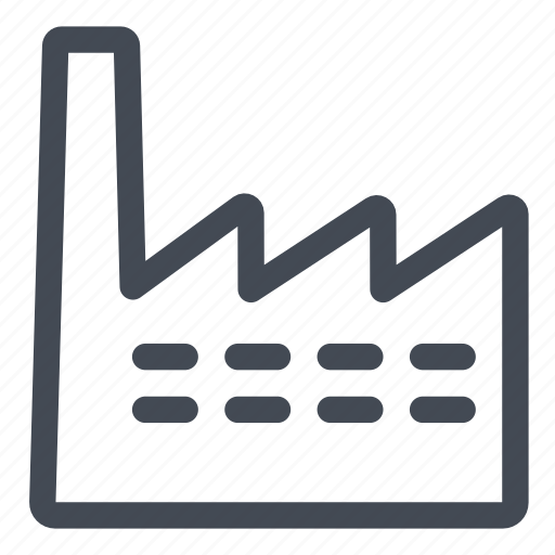 build, building, factory, industrial, plant, process, product icon