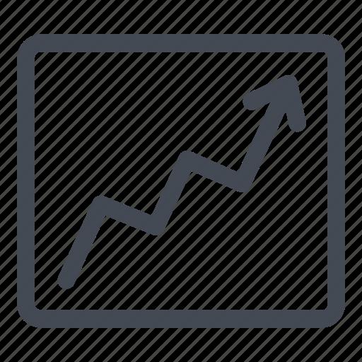 bullish, chart, graph, increasing, sales icon